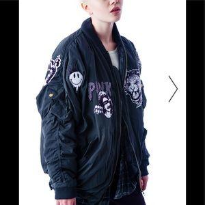 Dolls Kill Ruff Ryder Bomber jacket, like new